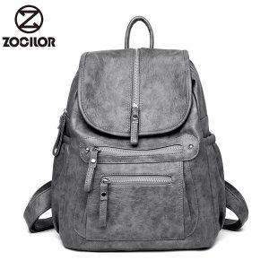 2018 Women Backpack high quality Leather Fashion school Backpacks Female Feminine Casual Large Capacity Vintage Shoulder Innrech Market.com