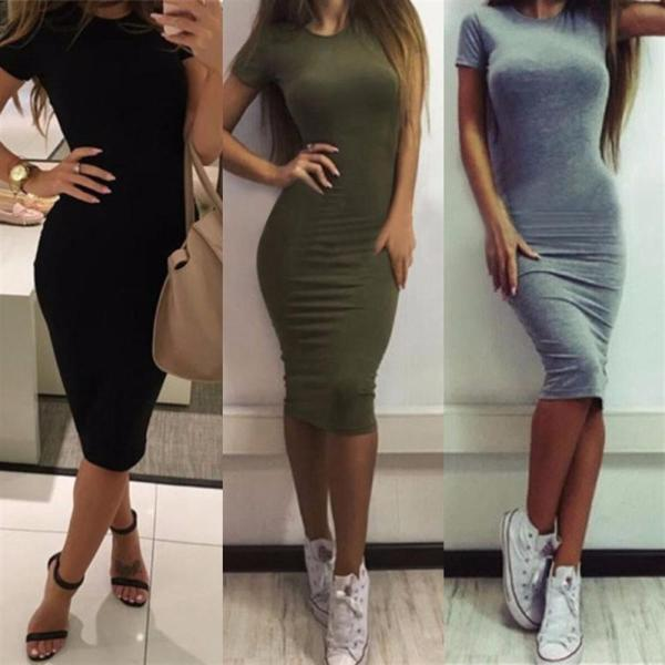 2019 Autumn Hot Slim Bodycon Dress Women Solid Color Chic Party Dresses Casual Sleep Wear Inside 1 2019 Autumn Hot Slim Bodycon Dress Women Solid Color Chic Party Dresses Casual Sleep Wear Inside Wear Vestidos Pencil Dress