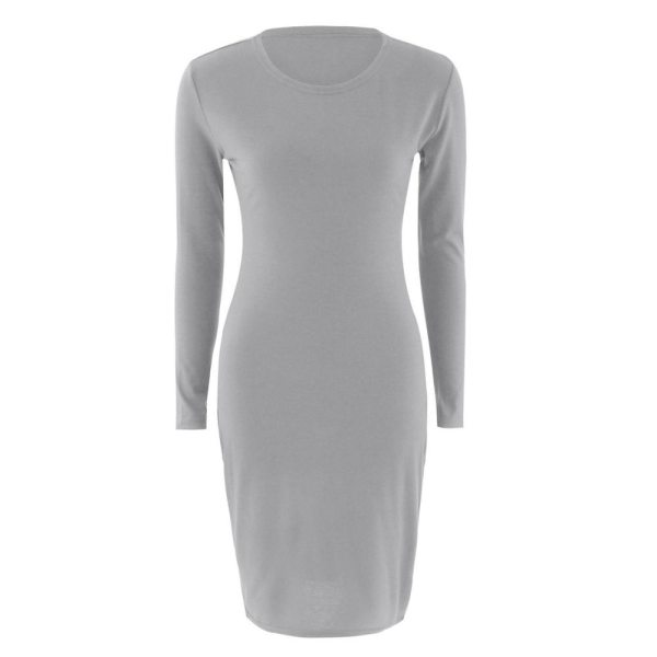 2019 Autumn Hot Slim Bodycon Dress Women Solid Color Chic Party Dresses Casual Sleep Wear Inside 5 2019 Autumn Hot Slim Bodycon Dress Women Solid Color Chic Party Dresses Casual Sleep Wear Inside Wear Vestidos Pencil Dress