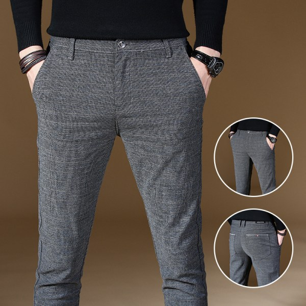 2019 Fashion High Quality Men Pants Spring Autumn Men Pants Trousers Male Classic Business Casual Trousers 4 2019 Fashion High Quality Men Pants Spring Autumn Men Pants Trousers Male Classic Business Casual Trousers Full length