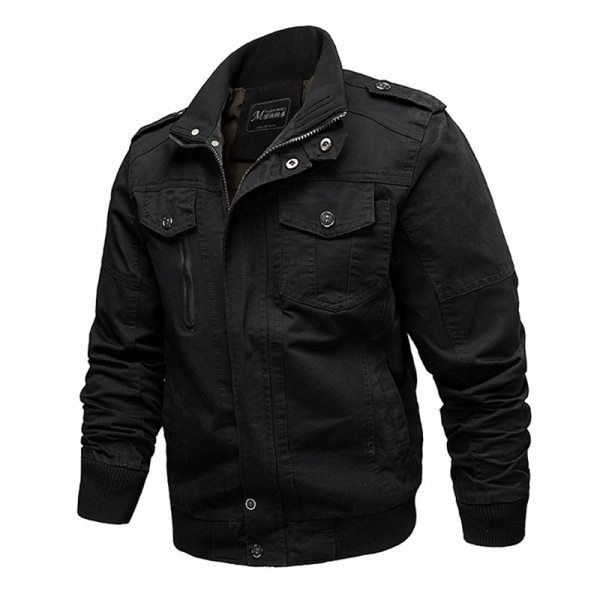 2019 Military Jacket Men Cargo Tactical Bomber Jacket Male Plus Size 6XL Casual Zipper Air Force 1 2019 Military Jacket Men Cargo Tactical Bomber Jacket Male Plus Size 6XL Casual Zipper Air Force Pilot Flight Cotton Coat Jacket