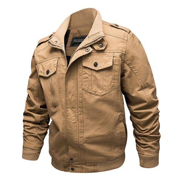 2019 Military Jacket Men Cargo Tactical Bomber Jacket Male Plus Size 6XL Casual Zipper Air Force 4 2019 Military Jacket Men Cargo Tactical Bomber Jacket Male Plus Size 6XL Casual Zipper Air Force Pilot Flight Cotton Coat Jacket