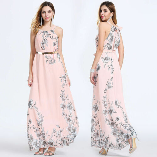 2019 NEW Women Summer Casual Floral Sleeveless Evening Party Club Wear Long Dress 2019 NEW Women Summer Casual Floral Sleeveless Evening Party Club Wear Long Dress