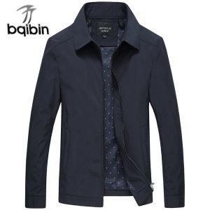 2019 New Arrival Mens Jacket and Coats Business Black Male Windbreaker Brand Outerwear Stand Collar Men Innrech Market.com
