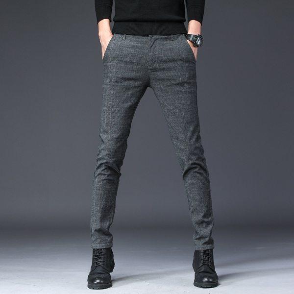 2019 New Design Upscale Casual Men Pants Cotton Slim Male Pant Straight Trousers Fashion Business Pants 2019 New Design Upscale Casual Men Pants Cotton Slim Male Pant Straight Trousers Fashion Business Pants Men Plus Size 38