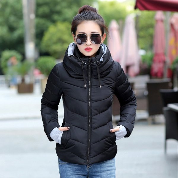 2019 Winter Jacket women Plus Size Womens Parkas Thicken Outerwear solid hooded Coats Short Female Slim 1 2019 Winter Jacket women Plus Size Womens Parkas Thicken Outerwear solid hooded Coats Short Female Slim Cotton padded basic tops