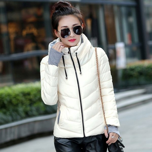 2019 Winter Jacket women Plus Size Womens Parkas Thicken Outerwear solid hooded Coats Short Female Slim 2 2019 Winter Jacket women Plus Size Womens Parkas Thicken Outerwear solid hooded Coats Short Female Slim Cotton padded basic tops