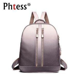 2019 Women Leather Backpacks For Girls Sac a Dos School Backpack Female Travel Shoulder Bagpack Ladies 1 Innrech Market.com