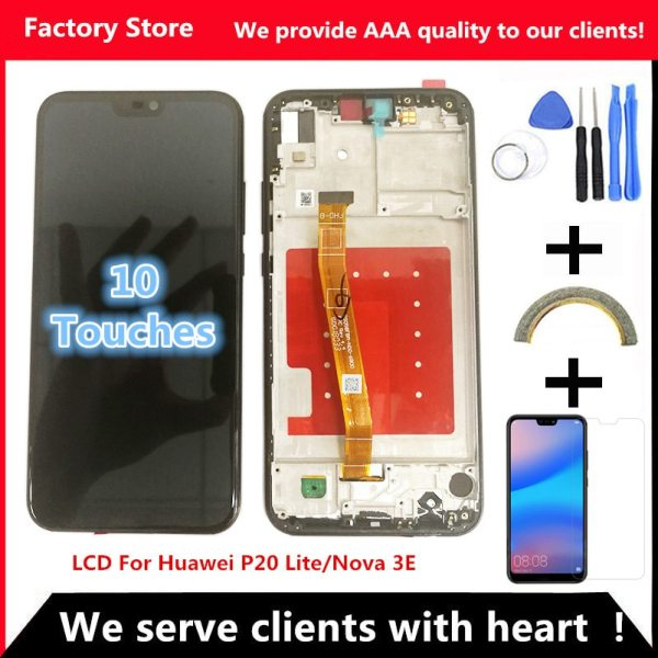 2280 1080 AAA Quality LCD With Frame For HUAWEI P20 Lite Lcd Display Screen For HUAWEI 2280*1080 AAA Quality LCD With Frame For HUAWEI P20 Lite Lcd Display Screen For HUAWEI P20 Lite ANE-LX1 ANE-LX3 Nova 3e