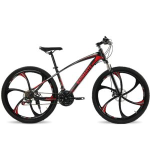26inch mountain bicycle 21speed High carbon steel frame bike double disc brakes bicycle Spoke wheel and Innrech Market.com