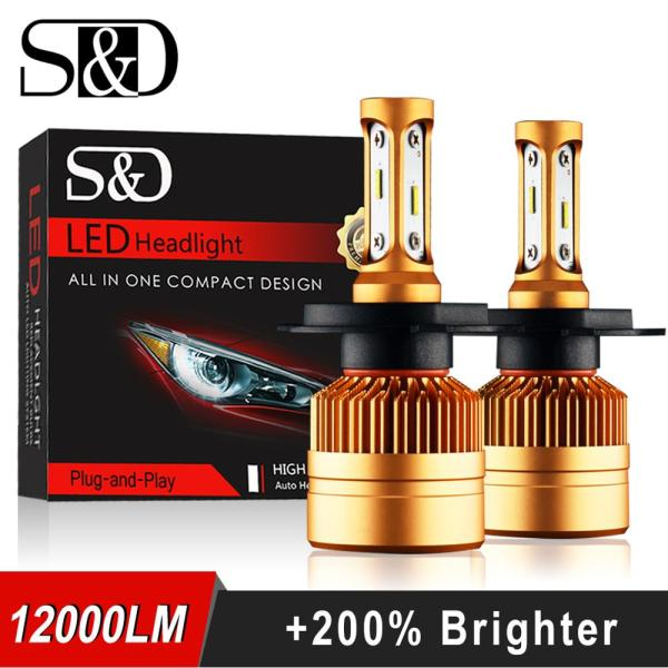 2Pcs H4 LED H7 H11 H8 9006 HB4 H1 H3 HB3 H9 H27 Car Headlight Bulbs 2Pcs H4 LED H7 H11 H8 9006 HB4 H1 H3 HB3 H9 H27 Car Headlight Bulbs LED Lamp with 1515 Chips 12000LM Auto Fog Lights 6000K 12V
