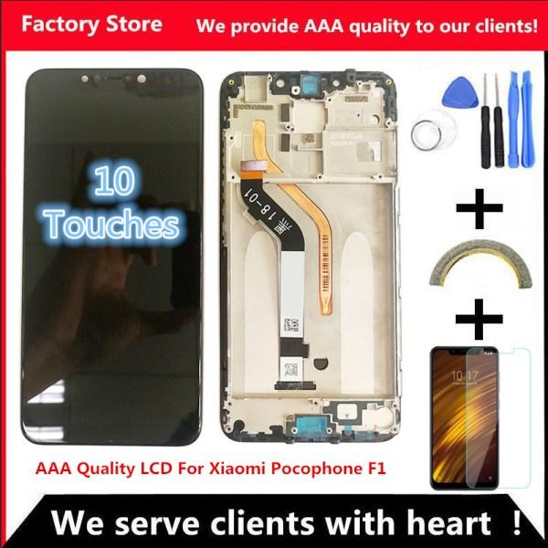 "6 18 AAA Original LCD Frame For Xiaomi Pocophone F1 LCD Display Screen For POCO F1 6.18"" AAA Original LCD+Frame For Xiaomi Pocophone F1 LCD Display Screen For POCO F1 LCD Screen Display 2246*1080 Resolution"