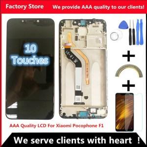 6 18 AAA Original LCD Frame For Xiaomi Pocophone F1 LCD Display Screen For POCO F1 Innrech Market.com