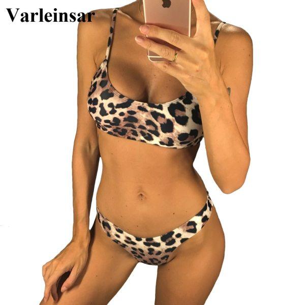 6 Colors Sexy Leopard 2019 Bikini Women Swimwear Female Swimsuit Two pieces Bikini set Brazilian Bather 6 Colors Sexy Leopard 2019 Bikini Women Swimwear Female Swimsuit Two-pieces Bikini set Brazilian Bather Bathing Suit Swim V871
