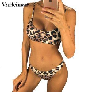 6 Colors Sexy Leopard 2019 Bikini Women Swimwear Female Swimsuit Two pieces Bikini set Brazilian Bather Innrech Market.com
