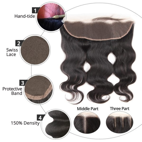 AliPearl Brazilian Body Wave 3 Bundles With Frontal Closure Brazilian Hair Weave Bundles With Frontal 13x4 4 AliPearl Brazilian Body Wave 3 Bundles With Frontal Closure Brazilian Hair Weave Bundles With Frontal 13x4 Remy Hair Extension