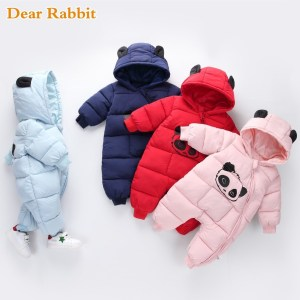Baby boy girl Clothes 2019 New born Winter Hooded Rompers Thick Cotton Outfit Newborn Jumpsuit Children Innrech Market.com
