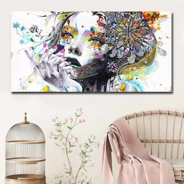 Beautiful Flower Girl Painting Canvas Wall Art Posters Print Pictures For Bedroom Home Decoration No Frame 3 Beautiful Flower Girl Painting Canvas Wall Art Posters Print Pictures For Bedroom Home Decoration No Frame Discount Dropshiping