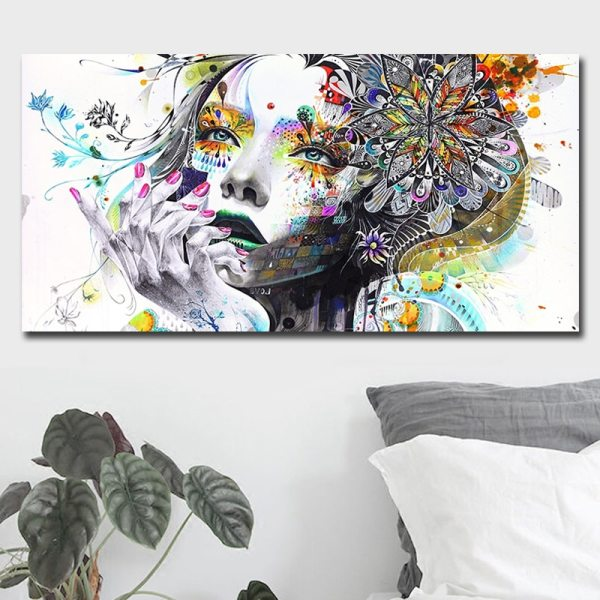 Beautiful Flower Girl Painting Canvas Wall Art Posters Print Pictures For Bedroom Home Decoration No Frame 4 Beautiful Flower Girl Painting Canvas Wall Art Posters Print Pictures For Bedroom Home Decoration No Frame Discount Dropshiping