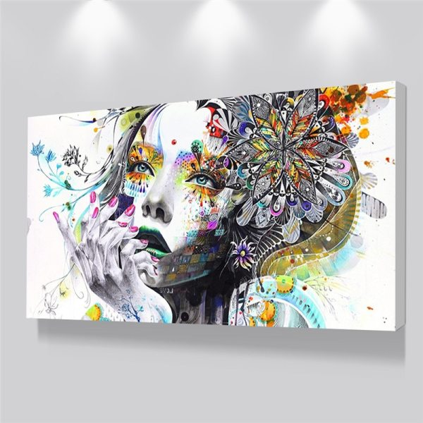 Beautiful Flower Girl Painting Canvas Wall Art Posters Print Pictures For Bedroom Home Decoration No Frame Beautiful Flower Girl Painting Canvas Wall Art Posters Print Pictures For Bedroom Home Decoration No Frame Discount Dropshiping