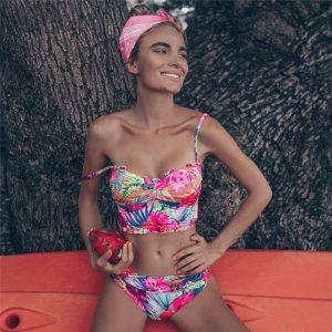 Bikini Push up 2019 Sexy Women Swimsuit Striped Patchwork Plus Size Swimwear Female Bandage Biquini Bathing Innrech Market.com