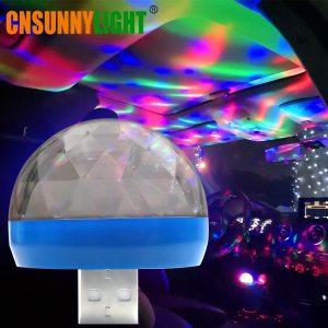 CNSUNNYLIGHT LED Car USB Atmosphere Light DJ RGB Mini Colorful Music Sound Lamp USB C Phone Innrech Market.com