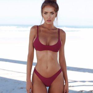 COSPOT Bikini 2019 Sexy Women Swimwear Brazilian Bikini Push Up Swimsuit Solid Beachwear Bathing Suit Thong Innrech Market.com