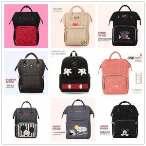 Disney Backpacks Mummy Bag Multifunction Large Capacity Double Shoulder Travel bags Baby Handbag Bottle Insulation Chair Innrech Market.com