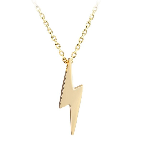 Dorado 925 Sterling Silver Necklaces Golden Silver Lightning Pendant Necklaces Fine Jewelry Gift Birthday For Women 3 Dorado 925 Sterling Silver Necklaces Golden Silver Lightning Pendant Necklaces Fine Jewelry Gift Birthday  For Women