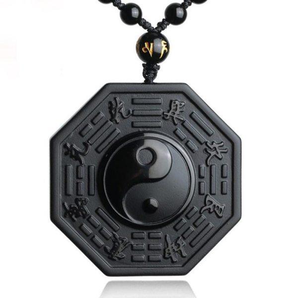 Drop Shipping Black Obsidian Yin Yang Necklace Pendant Chinese BAGUA Men s Jewelry Women s Jewelry Drop Shipping Black Obsidian Yin Yang Necklace Pendant Chinese BAGUA Men's Jewelry Women's Jewelry