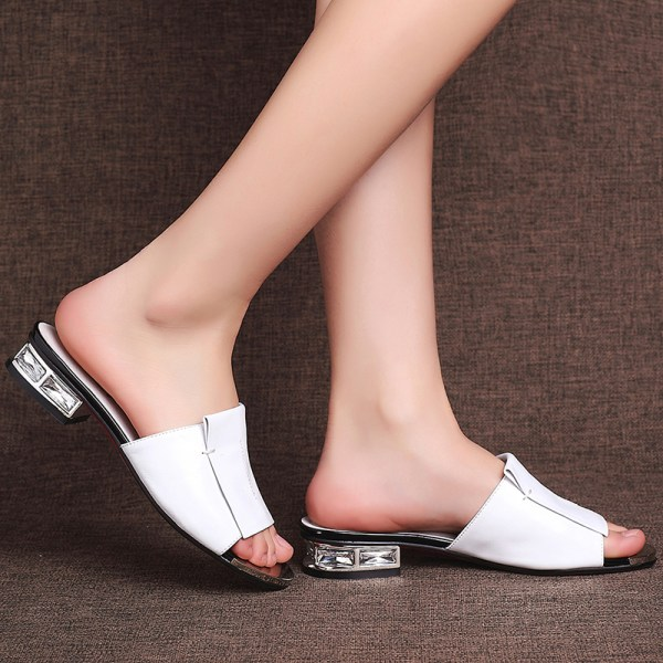 FEDONAS 2019 New Women Summer High Quality Square High Heels Pumps Genuine Leather Shoes Woman Sandals 4 FEDONAS 2019 New Women Summer High Quality Square High Heels Pumps Genuine Leather Shoes Woman Sandals Open Toe Ladies Slippers