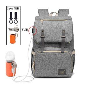 Fashion Large Capacity Baby Nappy Bag Diaper Bag Purse Multifunction USB Mummy Travel Backpack Women Nursing Innrech Market.com