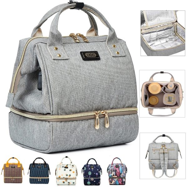 Fashion Mummy Maternity Diaper Bag Large Baby Bags For Mom Thermal Insulation Travel Nappy Chaning Backpack Fashion Mummy Maternity Diaper Bag Large Baby Bags For Mom Thermal Insulation Travel Nappy Chaning Backpack Stroller Organizer