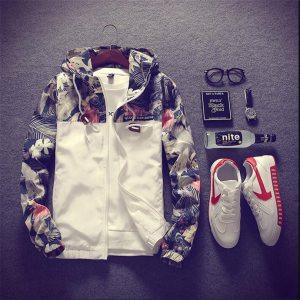 Floral Bomber Jacket Men Hip Hop Slim Fit Flowers Pilot Bomber Jacket Coat Men s Hooded Innrech Market.com