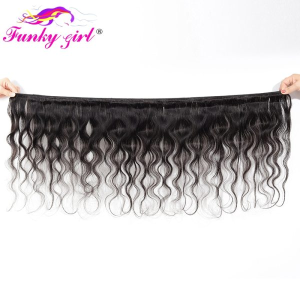 Funky Girl 3 4 bundles with frontal Peruvian Body Wave Human Hair Lace Frontal Closure With 1 Funky Girl 3/4 bundles with frontal Peruvian Body Wave Human Hair Lace Frontal Closure With Bundles Non Remy Frontal With Bundle