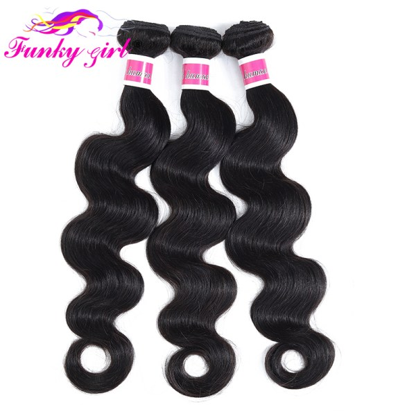 Funky Girl 3 4 bundles with frontal Peruvian Body Wave Human Hair Lace Frontal Closure With 2 Funky Girl 3/4 bundles with frontal Peruvian Body Wave Human Hair Lace Frontal Closure With Bundles Non Remy Frontal With Bundle