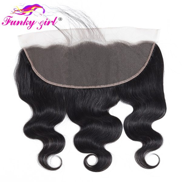 Funky Girl 3 4 bundles with frontal Peruvian Body Wave Human Hair Lace Frontal Closure With 3 Funky Girl 3/4 bundles with frontal Peruvian Body Wave Human Hair Lace Frontal Closure With Bundles Non Remy Frontal With Bundle