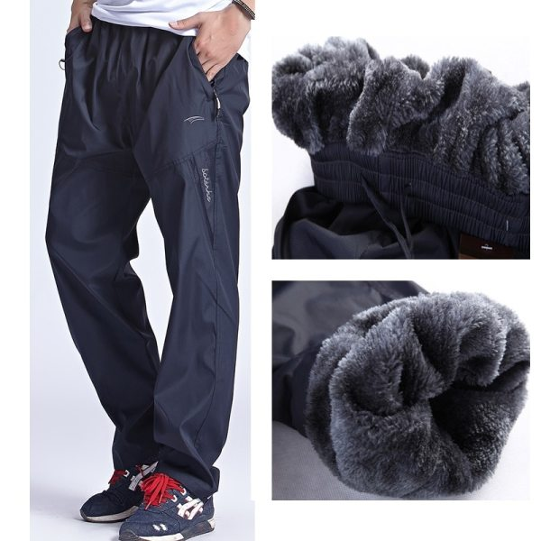 Grandwish Men Winter Sweatpants Warm Fleece Thick Pants Mens Loose Elastic Waist Pants Casual Pants Trousers Grandwish Men Winter Sweatpants Warm Fleece Thick Pants Mens Loose Elastic Waist Pants Casual Pants Trousers With Pockets,DA897
