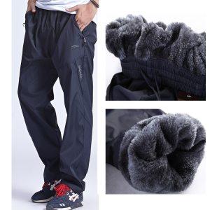 Grandwish Men Winter Sweatpants Warm Fleece Thick Pants Mens Loose Elastic Waist Pants Casual Pants Trousers Innrech Market.com
