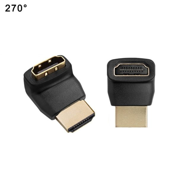 HDMI Cable Adapter Converters 270 90 Degree Angle HDMI Male to HDMI Female for 1080P HDTV 5 HDMI Cable Adapter Converters 270/90 Degree Angle HDMI Male to HDMI Female for 1080P HDTV Cable Adaptor Converter Extender