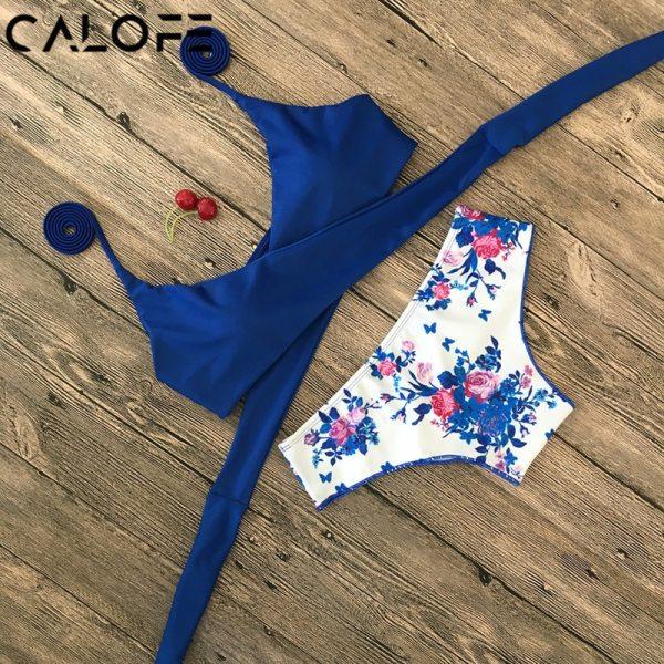 Halter Swimwear Bikini 2019 Thong Bikini Blue Set Women Bikini Brazilian Swimwear female Biquinis Push Up Halter Swimwear Bikini 2019 Thong Bikini Blue Set Women Bikini Brazilian Swimwear female Biquinis Push Up Swimsuit