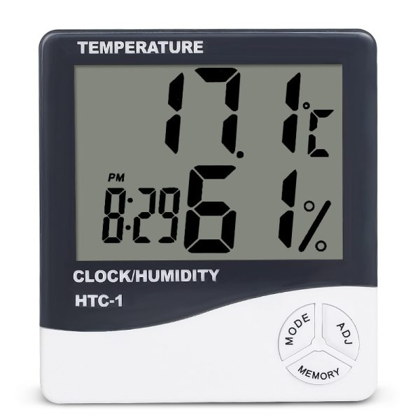 Indoor Room LCD Electronic Temperature Humidity Meter Digital Thermometer Hygrometer Weather Station Alarm Clock HTC 1 Indoor Room LCD Electronic Temperature Humidity Meter Digital Thermometer Hygrometer Weather Station Alarm Clock HTC-1