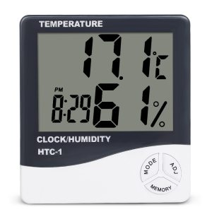 Indoor Room LCD Electronic Temperature Humidity Meter Digital Thermometer Hygrometer Weather Station Alarm Clock HTC 1 Innrech Market.com