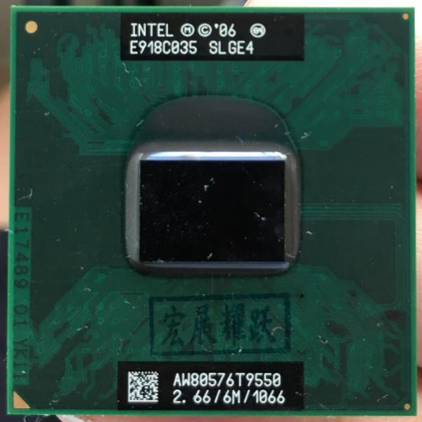 Intel Core 2 Duo T9550 CPU Laptop processor PGA 478 cpu 100 working properly 1 Intel Core 2 Duo T9550 CPU Laptop processor PGA 478 cpu 100% working properly