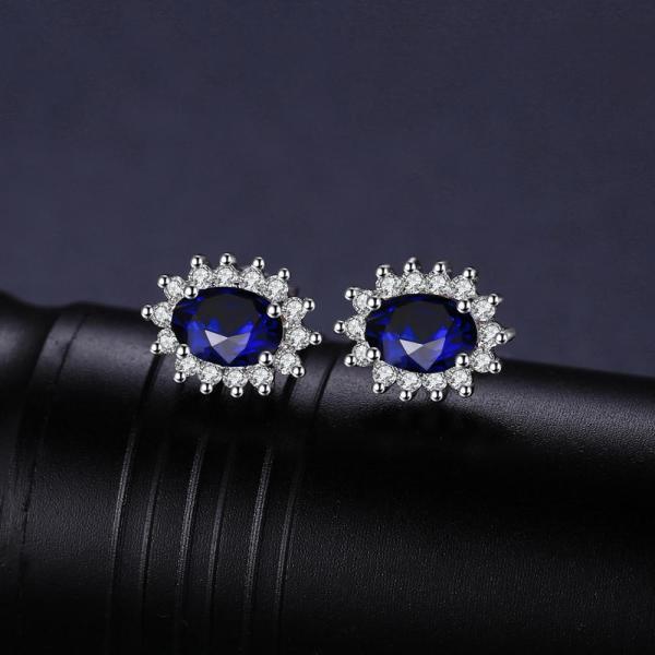JPalace Diana Created Blue Sapphire Stud Earrings 925 Sterling Silver Earrings For Women Korean Earings Fashion 2 JPalace Diana Created Blue Sapphire Stud Earrings 925 Sterling Silver Earrings For Women Korean Earings Fashion Jewelry 2019