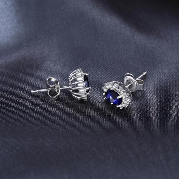 JPalace Diana Created Blue Sapphire Stud Earrings 925 Sterling Silver Earrings For Women Korean Earings Fashion 4 JPalace Diana Created Blue Sapphire Stud Earrings 925 Sterling Silver Earrings For Women Korean Earings Fashion Jewelry 2019