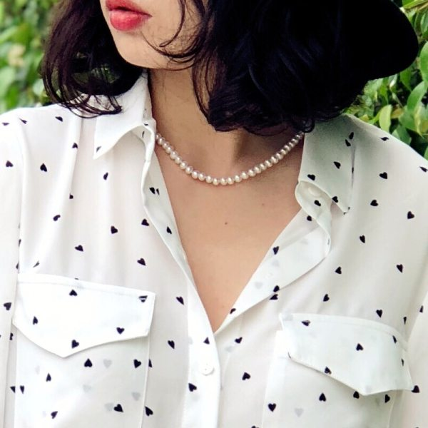 JYX Pearl Necklace Natural Freshwater Cultured Choker Necklace for Girl Real Pearl Party Necklace 4 10mm 1 JYX  Pearl Necklace Natural Freshwater Cultured Choker Necklace for Girl Real Pearl  Party Necklace (4-10mm) 328sale necklace