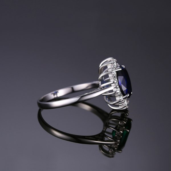 JewelryPalace Created Blue Sapphire Ring Princess Crown Halo Engagement Wedding Rings 925 Sterling Silver Rings For 1 JewelryPalace Created Blue Sapphire Ring Princess Crown Halo Engagement Wedding Rings 925 Sterling Silver Rings For Women 2019