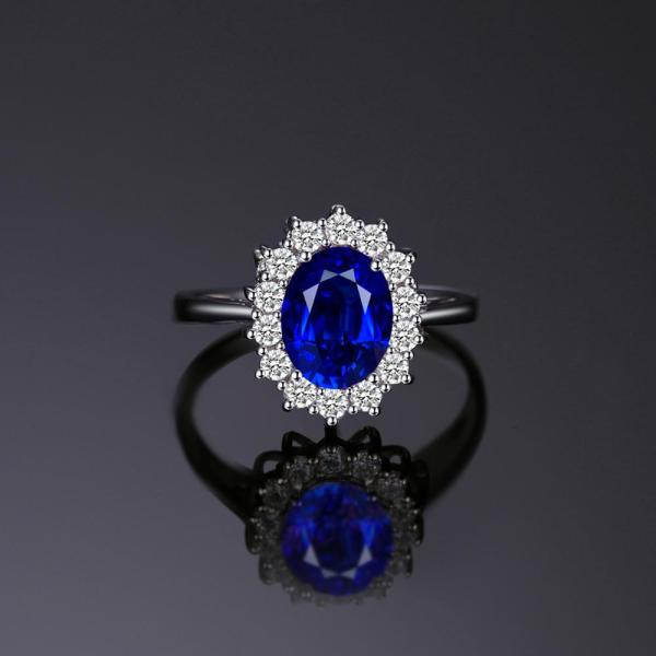 JewelryPalace Created Blue Sapphire Ring Princess Crown Halo Engagement Wedding Rings 925 Sterling Silver Rings For 3 JewelryPalace Created Blue Sapphire Ring Princess Crown Halo Engagement Wedding Rings 925 Sterling Silver Rings For Women 2019