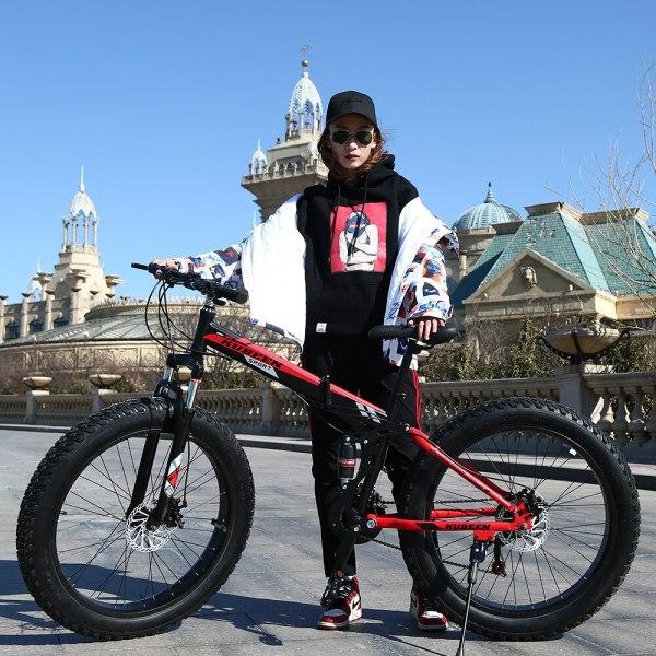 KUBEEN Mountain Bike Super WideTire Bike Snowmobile ATV 26 4 0 Bicycle 7 21 24 27 5 KUBEEN Mountain Bike Super WideTire Bike Snowmobile ATV 26 * 4.0 Bicycle 7/21/24/27 Speed Shock Absorbers Bike